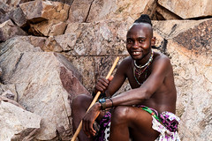 Unmarried Himba Man 4024-2 (Ursula in Aus) Tags: africa namibia offcameraflash himba portrait male