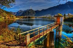Guardiano del lago (giannipiras555) Tags: landscape ponte lago idro alberi autunno foglie panorama valle colline riflessi nuvole