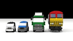 Size Chart (JSDBanner) Tags: lego train modification instructions diesel white background brclass66 60098