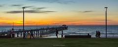 Dusk at Henley Beach (johnwilliamson4) Tags: beach blue henleybeach jetty southauatralia sunset water louds orange southaustralia australia