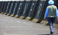 The Walk (gfacegrace) Tags: port wharf porttaranaki indian india newplymouth art artistic turban blue walk road path journey eternity forever