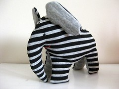 "Stripey Elephant Toy • <a style=""font-size:0.8em;"" href=""http://www.flickr.com/photos/69839173@N05/6969242838/"" target=""_blank"">View on Flickr</a>"