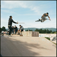 Caught Gramming (Terry Barentsen) Tags: california film table bmx kodak cm bolinas hasselblad 100 500 caught 2012 ektar instagraming