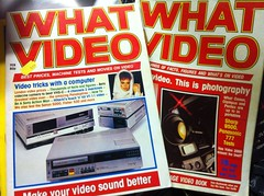 What Video? (Keyfabe) Tags: television video sharp panasonic vision movies 777 9500 betamax vhsc videocine