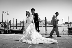 The Wedding Shot.. (Peter Levi) Tags: street city venice wedding blackandwhite bw italy blancoynegro streetphotography documentary venezia venedig weddingpicture x100 fujifilmx100 fujix100