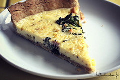 Purple sprouting broccoli and Wensleydale tart (fabienne & co) Tags: recipe broccoli delicious tart recette brocoli bimi
