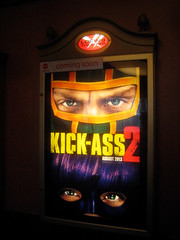 Kick Ass 2 Movie 0161 (Brechtbug) Tags: street new york city 2 two cinema film ass booth movie poster comic action kick manhattan telephone ad billboard advertisement adventure midtown suit sidewalk transportation hero comicbook superhero avenue 9th 44th 2013