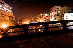 stone bridge 2 (kmmanaka) Tags: japan stairs crossing nightview nagasaki stonebridge kokaido umamachi