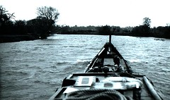 Winter Gale on the Thames (Crunch20) Tags: thames gale jaguar narrowboat radley