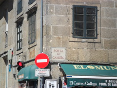 The city (caitlin.hassler) Tags: spain hiking santiagodecompostela pilgrim elcaminodesantiago thewayofstjames