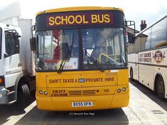 Swift Taxis 110 BX55OFN (Joe (Norwich Bus Page)) Tags: school bus 110 taxis swift fe bmc 1100 bx55ofn