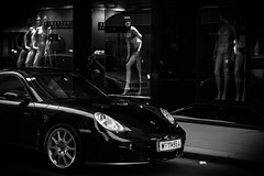 Cars & Girls (NoDurians) Tags: girls mannequin car mannequins porsche shopwindow