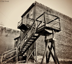 (JayCass84) Tags: street camera city urban bw building abandoned beautiful sepia buildings flickr escape decay awesome streetphotography explore abandon fireescape abandonment streetview urbanstreetphotography urbanphotography instagram instagramapp