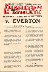 Charlton Athletic v Everton 1950-51 - Complimentary Programme (Bob Latchford) Tags: