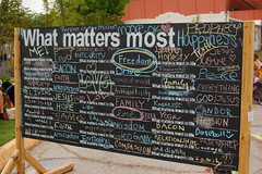 What matters most (radargeek) Tags: city oklahoma festival district arts paseo okc chalkboard ok 2013