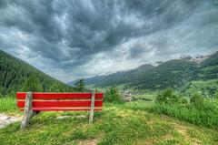 Guardare fuori, vedersi dentro. (Alberto Colombo - Como) Tags: travel sky panorama canon landscape nuvole day cloudy sigma cielo 7d svizzera viaggio hdr panchina paese 816