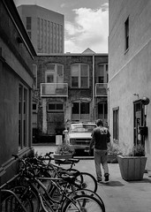 Boise Downtown Alley (ben.bibikov) Tags: alley downtown fuji bikes boise fujifilm xe1 thomashammer