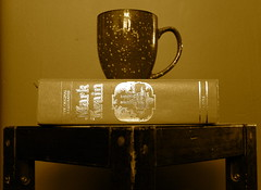 30/52 in 2013 - You can never get a cup of tea large enough or a book long enough to suit me. ~C.S. Lewis (lorainedicerbo) Tags: classic cup sepia table book tea quote marktwain shortstories huckfinn princeandthepauper connecticutyankeeinkingarthurscourt cslewisquotes connecticutyankeeismyfavorite
