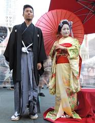 Couple In Traditional Japanese Attire .... Matsuri Toronto Japanese Summer Festival, Toronto, Ontario (Greg's Southern Ontario (catching Up Slowly)) Tags: fashion japanese nikon kimono matsuri japaneseclothing torontojapanesesummerfestival
