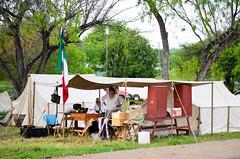 27th Annual Goliad Massacre (Tejas Cowboy) Tags: horse river mexico la costume san texas massacre candid tx bahia revolution annual antonio reenactment presidio texan 27th goliad 1836 texican