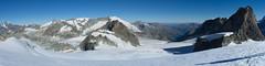 Panorama vanaf Pointes d'Oren op Glacier du Mont Collon (Inklaar) Tags: autostitch panorama zomer fujifilm bergen alpen italië valledaosta x100 gletsjer 2013 perquis inklaar:see=all