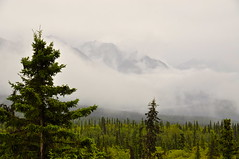 On Road, AK (faungg's photos) Tags: trip travel vacation usa mountain weather fog alaska clouds landscape us scenery cloudy foggy ak 雾 旅游 onroad 美国 scenicdrive 阿拉斯加 天气 在路上 自驾游