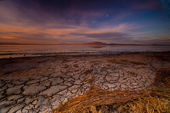 SEA BED_DSC8011_E6 (antelope reflection) Tags: color reflection water clouds antelopeisland greatsaltlake tamron crackedearth utahstatepark nikond90