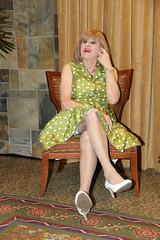 new91004-IMG_6541t (Misscherieamor) Tags: hotel tv sitting dress feminine cd tgirl transgender polkadots mature sissy tranny transvestite crossdress ts gurl tg travestis travesti travestie m2f xdresser tgurl