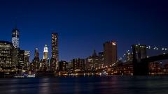 Nueva York desde parque del puente de Brooklyn