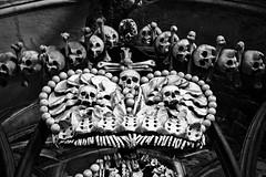 kostnice sedlec 4419 (s.alt) Tags: cemetery skull altar ossuary bones mementomori blackdeath czechrepublic skeletons kostnice kutnáhora sedlecossuary beinhaus humanbones kuttenberg kostnicesedlec knochenkirche hucklebones bladebones chandelierofbones 40thousandbones wwwsedlecinfo wwwkutnahoranet
