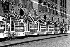 Bristol (HannahGE) Tags: street city blackandwhite colour texture monochrome stone architecture mono pattern candid perspective repeating leadin