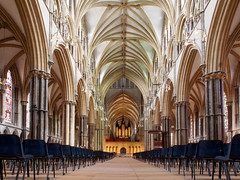 Inside Lincoln Cathedral (DaveKav) Tags: church cathedral chairs interior religion arches olympus lincolnshire organ lincoln evensong lincolncathedral