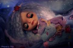 WIP Blythecon Madrid: Kiki, LTS Custom of Blue Butterfly Dolls - Collaboration Felicity Dolls