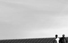decide (ifranke) Tags: two sky people bw men blackwhite nikon himmel haus minimal menschen sw dach zwei mnner schwarzweis minimalistisch