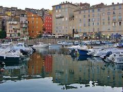 Port de Bastia (Ann/k) Tags: blue houses windows sea mer france water port landscape boats town eau corse maisons bateaux bleu paysage isle quai ville volets bastia fentres le mditerrane immeubles
