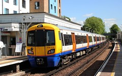 London Overground . 378 218 . South Acton Station , London . Wednesday 13th-May-2015 . (AndrewHA's) Tags: london electric train south railway class multiple emu derby overground acton unit bombardier 378 northlondonline electrostar 378218