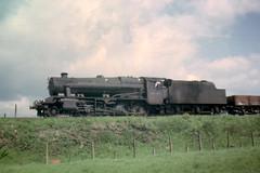 BR  Steam Locomotive 8F 48000  Lichfield May 64 (shipcard) Tags: br lichfield steamlocomotive britishrailways 8f 48000