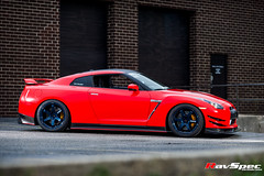 """RAYS TE37 Ultra Mag Blue - Nissan GTR R35 • <a style=""""font-size:0.8em;"""" href=""""http://www.flickr.com/photos/64399356@N08/17836844816/"""" target=""""_blank"""">View on Flickr</a>"""