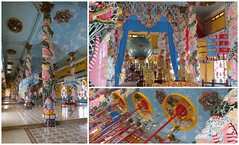 Het interieur (MTTAdventures) Tags: architecture temple cao dai draken kleurrijk heilig sterren symbolen