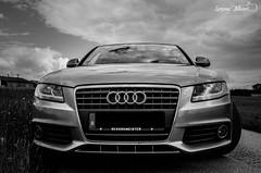 Fierce Audi A4 (meepeachii) Tags: auto bw cars car closeup clouds germany deutschland lights wolken autos a4 audi lichter schwarzweis