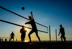 I've got it! (VanveenJF) Tags: girls sunset people sun ontario net beach boys silhouette sport youth strand high nikon view volleyball portdalhousie d7100