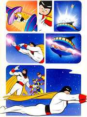Space Ghost Story art by Ken Steacy, Steve Rude and Willie Blyberg, 1987 (Tom Simpson) Tags: steverude illustration painting art comics spaceghost kensteacy willieblyberg 1987 1980s vintage