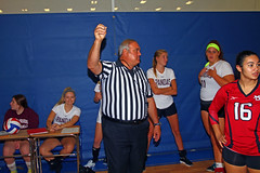 IMG_9482 (SJH Foto) Tags: girls volleyball high school mount olive mt team tween teen teenager varsity tamron 1024mm f3545 superwide lens pregame ceremonies ref referee captains coin toss
