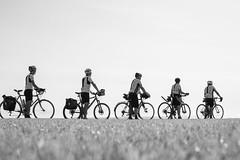 Cyclists, St Bees (Geraint Rowland Photography) Tags: cycling cyclists bikes riding exercise england stbees cumbria canon bw blackandwhitephotography travelphotography geraintrowlandphotography visitengland cycleengland zsoltschuller