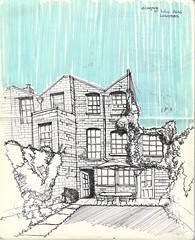Casa en londres (Andrs Goi :: www.andresgoni.cl) Tags: sketch croquis dibujo arquitectura lapiz mano handwrite architecture europa inglaterra england london train tren italy italia florencia firenze sienna