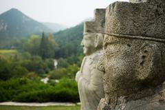 Tomb of King Kongmin (Steve Vallis) Tags: dprk northkorea statue landscape tomb stone king kongmin mountains trees