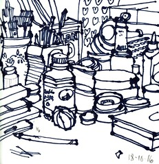 The Studio, Rawtenstall, Tuesday. (larosecarmine) Tags: urban sketch artists studio documentary reportage drawing caroline johnson sharpie