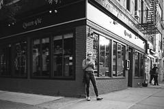 It seems like yesterday, but it was long ago (mkc609) Tags: 35mm bw film hp5 ilford nikonf100 street streetphotography blackandwhite blackwhite urban candid nyc newyork newyorkcity streetcorner