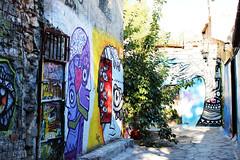 graffit (Katrinitsa) Tags: plaka athens greece anafiotika colors shadows canon  nature city cityscape architecture view graffiti cityview street neighbourhood wallpainting wall corner shadow ef35mmf14lusm art painting