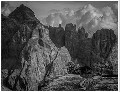 some different sort of mountains (Andibart) Tags: dolomiten italien italy dolomites dolomiti alps alpen landscape mountain clouds wolken himmel berge monochrom blackandwhite naturallight shadows